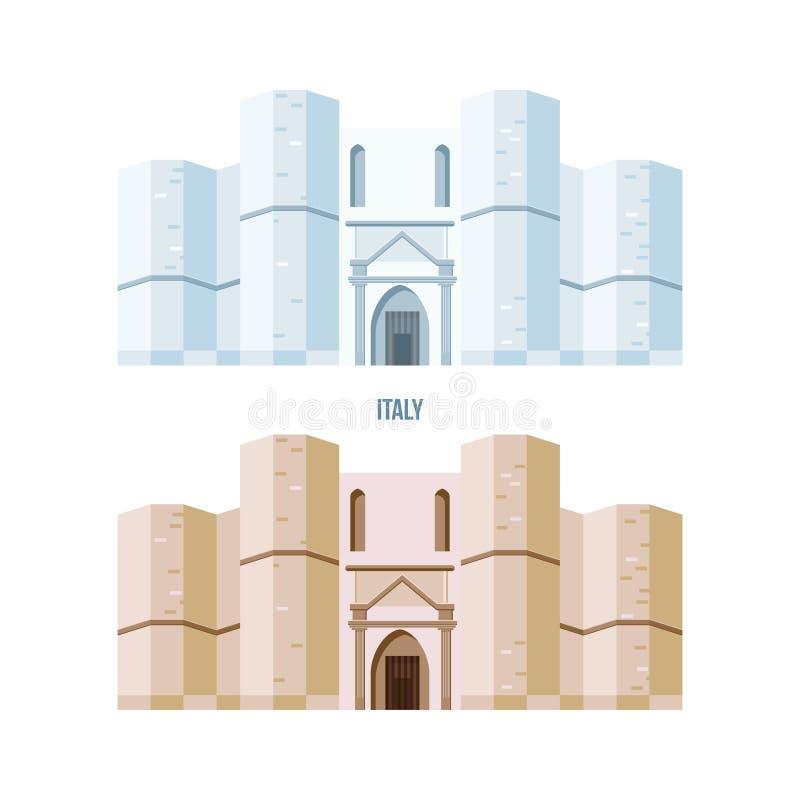 Castel del Monte大厦,位于小小山 皇族释放例证