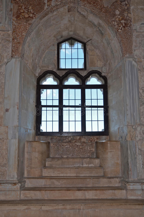 Castel del Monte,普利亚,意大利内部  免版税库存图片