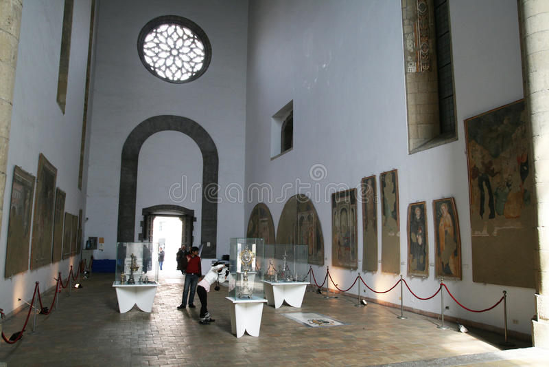 Castel Del Nuovo Museum stockfotografie