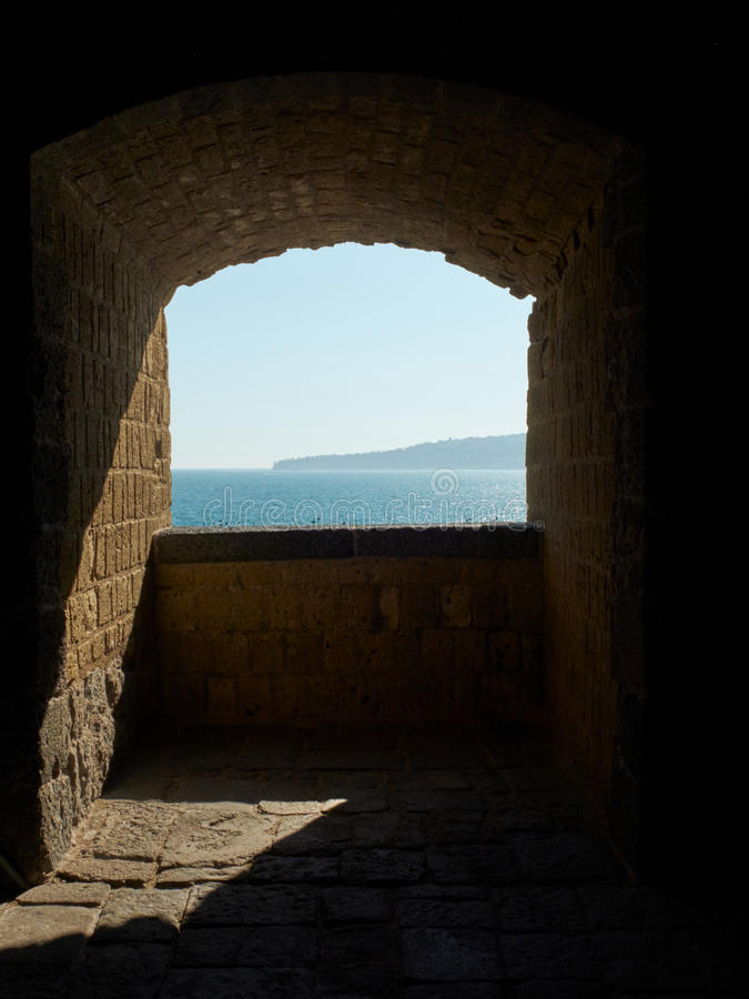 Castel dell`Ovo castle. Naples, Italy. stock images