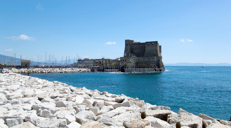 Download Castel Dell'Ovo, Naples, Italy Stock Image - Image of harbor, architecture: 39505085