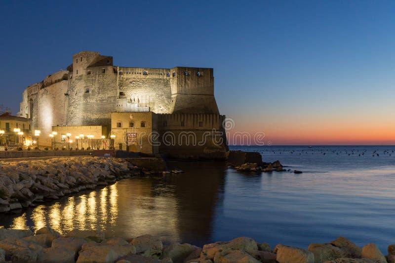 Castel dell Ovo w Naples zdjęcie royalty free