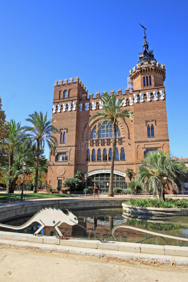 Castel dels Tres Dragons in Parc de la Ciutadella. Barcelona, Catalonia, Spain. royalty free stock photography