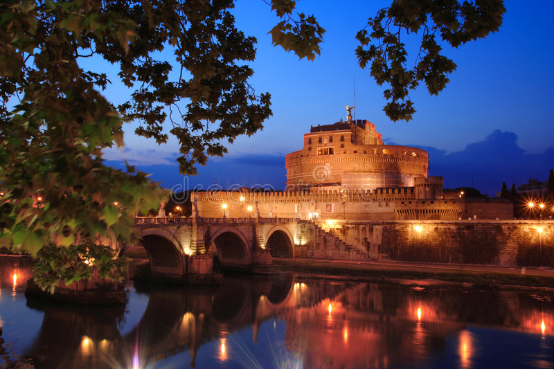 Castel di angelo in Rome stock photography