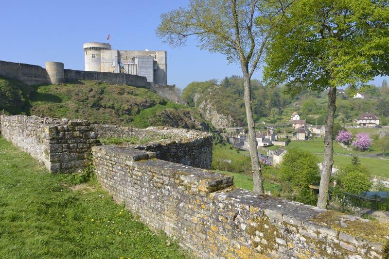 Castel di Falaise in Francia fotografie stock