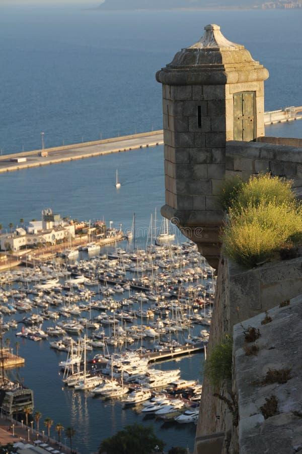 Castel em Santa Barbara na Espanha fotografia de stock royalty free