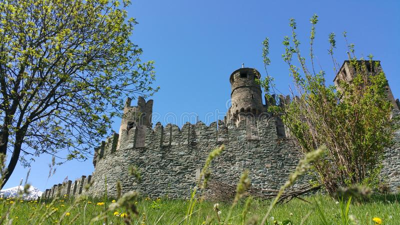 Castel Fenis images stock