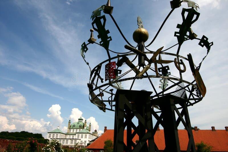 castel fredensborg雕塑 免版税图库摄影