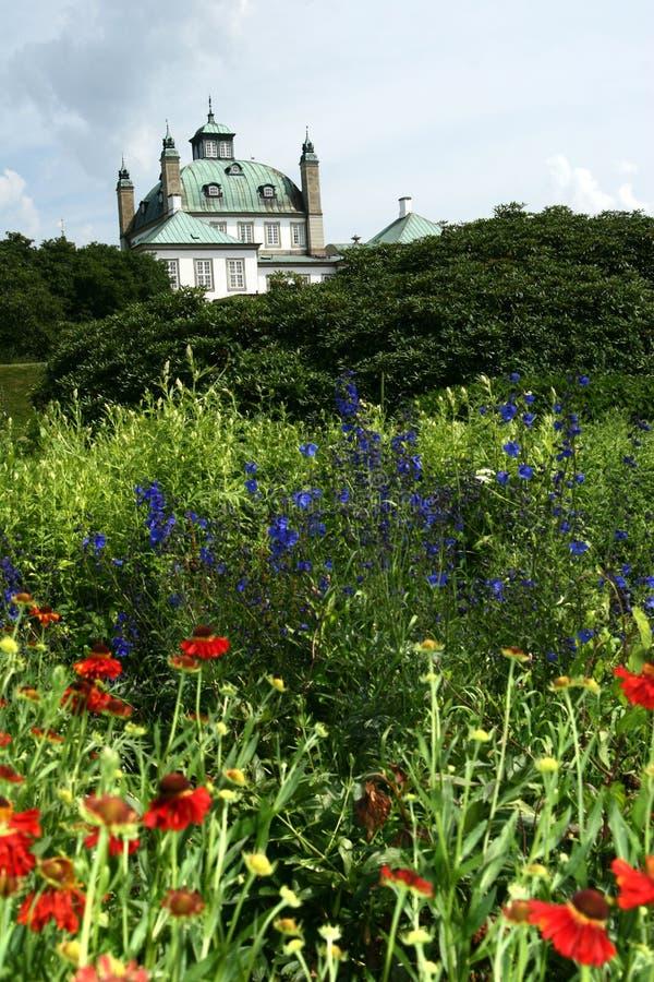castel fredensborg βασίλισσα σπιτιών κήπω& στοκ φωτογραφίες