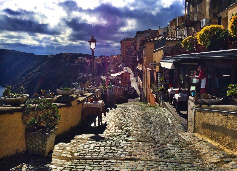 Castel Gandolfo - Lago Albano, Italië royalty-vrije stock afbeelding