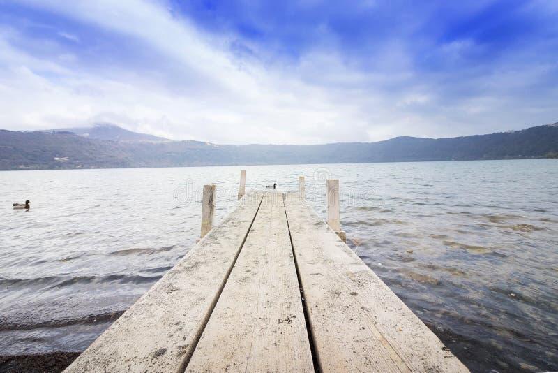 Castel gandolfo lake stock image
