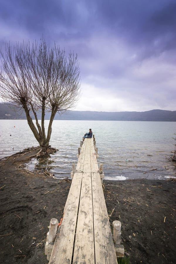 Castel gandolfo lake royalty free stock image