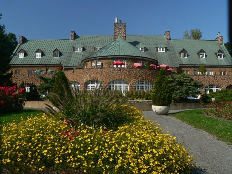 Castel and garden on Saint Helen Island stock image