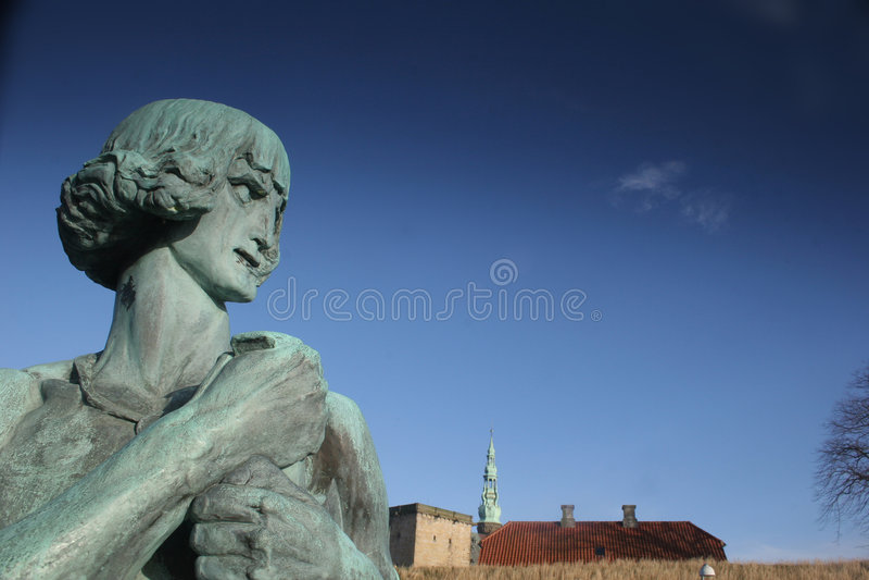 castel kronborg γλυπτά στοκ φωτογραφίες