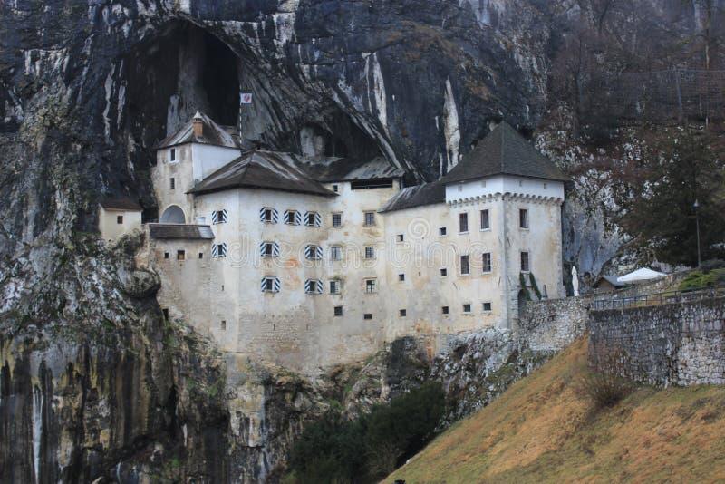 Castel Lueghi Predjama Castle in Slowenien Slovenija stockfotografie