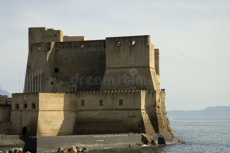 Castel in Naples royalty free stock photography