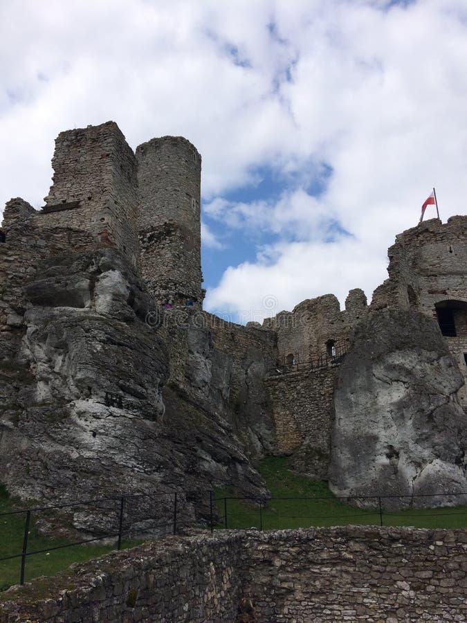 Castel no Polônia de Ogrodzieniec fotos de stock royalty free