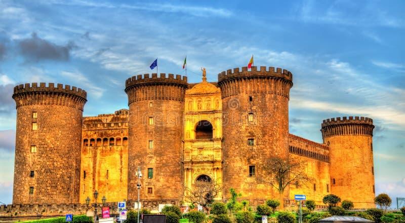 Castel Nuovo在那不勒斯 免版税库存照片