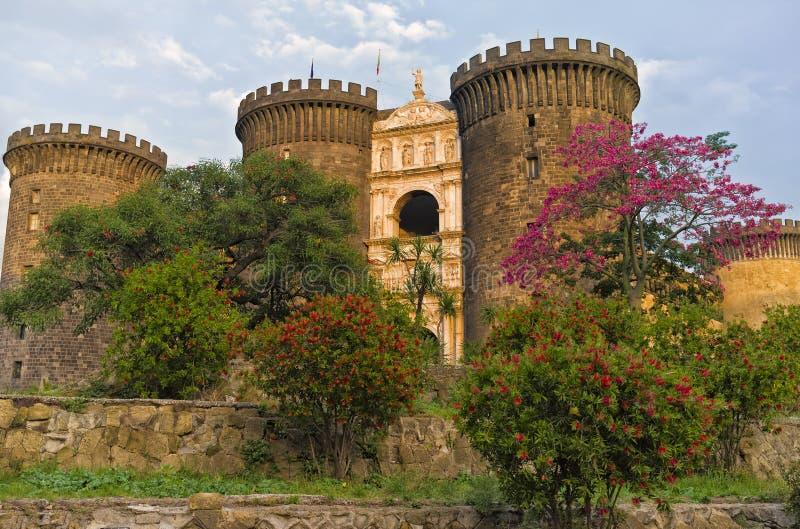 Castel Nuovo,那不勒斯意大利 库存照片