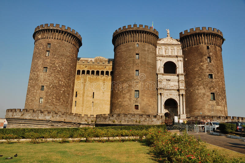 Castel Nuovo, Naples stock images