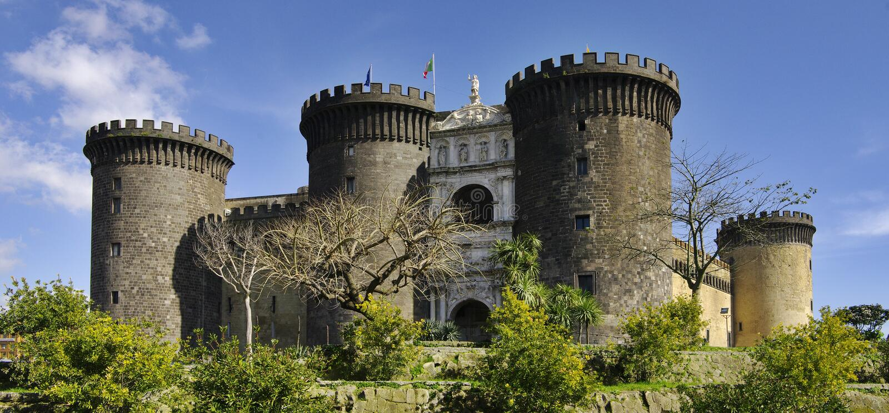 Castel Nuovo. Naples, Italy. stock photography