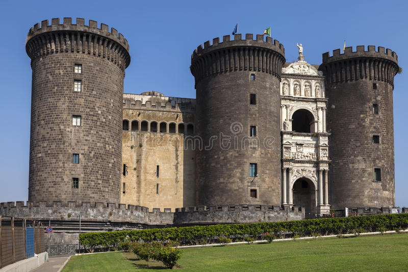 Castel Nuovo in Naples, Italy royalty free stock image