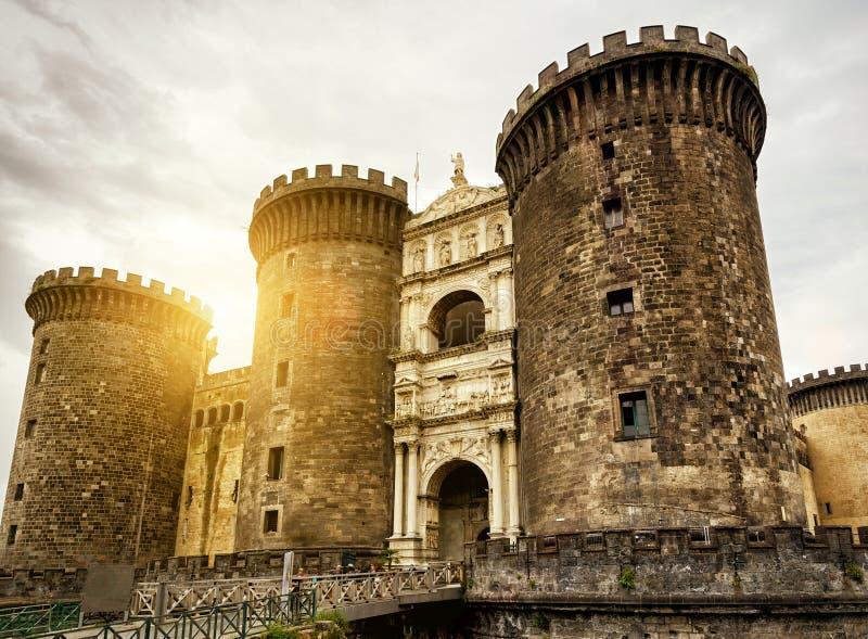 Castel Nuovo w Naples, Włochy zdjęcia stock