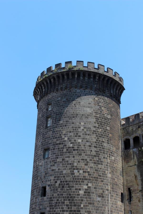 Castel Nuovo wierza fotografia royalty free