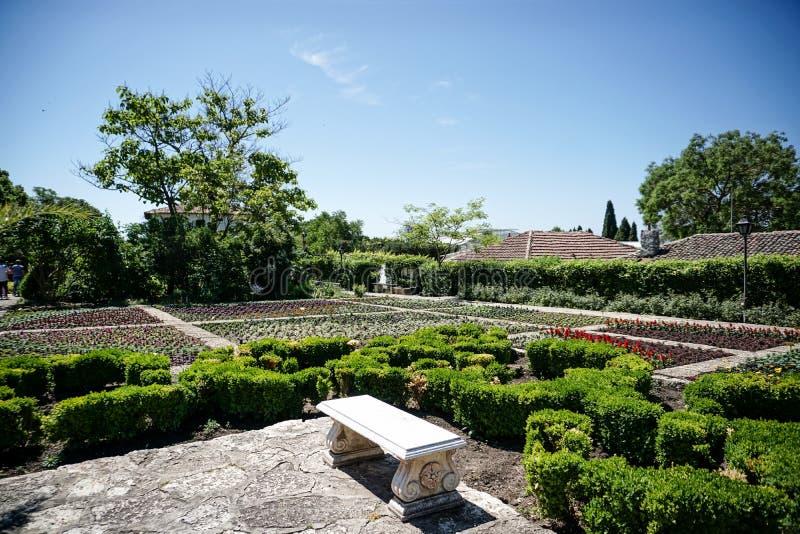 Castel Queen Mary, Balchik, Bułgaria obrazy stock