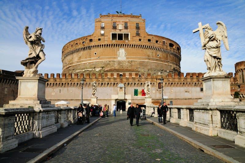 castel rome angelo sant стоковое изображение rf