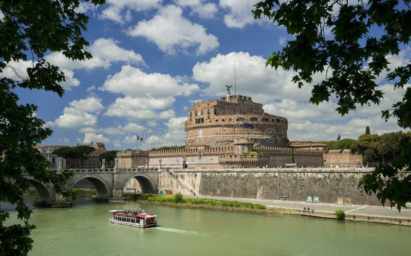 Castel San ` Angelo i Rome arkivfoto