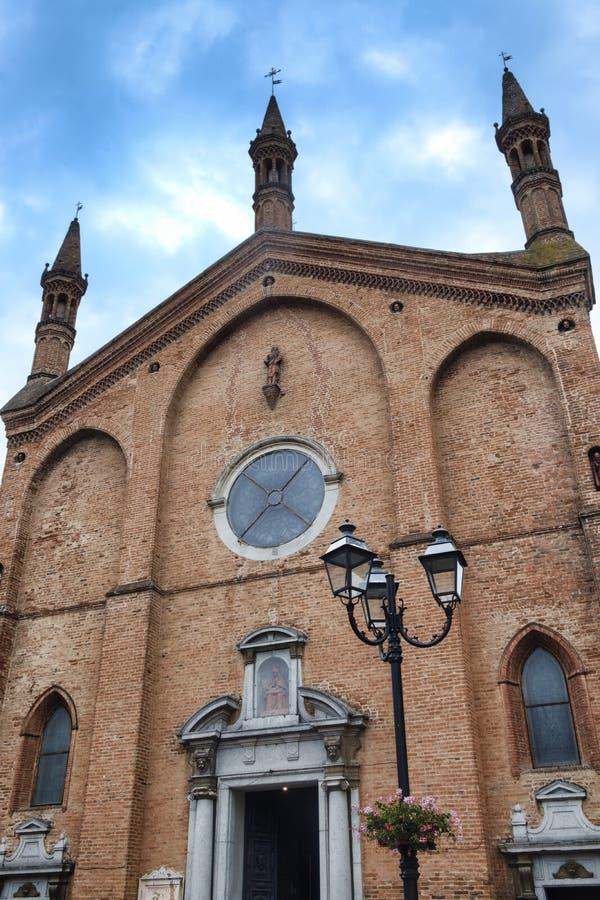 Castel San Giovanni Piacenza, Italy: San Giovanni Battista chu. Castel San Giovanni Piacenza, Emilia Romagna, Italy: San Giovanni Battista church, facade stock photo