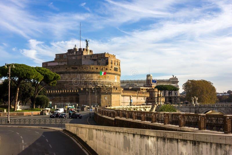 Castel Sant安吉洛,罗马,意大利 图库摄影