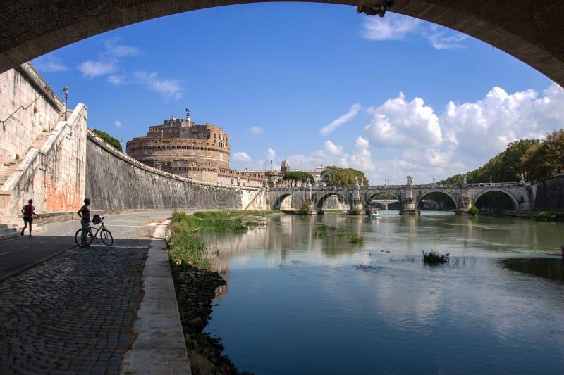 Castel Sant ' Ángel (Santangelo) Roma - Italia foto de archivo libre de regalías