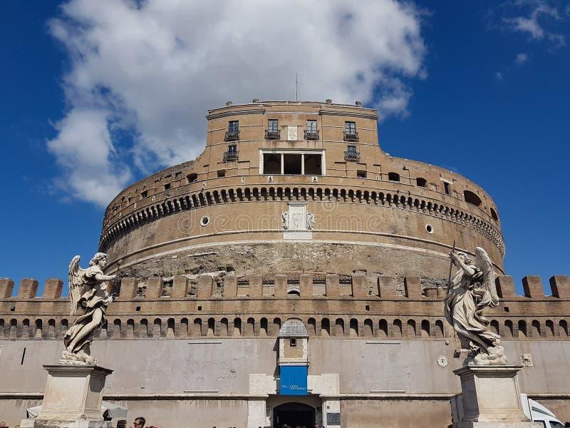 Castel Sant& x27; Мемориал Angelo Рима Италии к императору Hadrian стоковое изображение rf