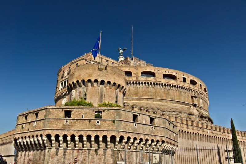 """Castel Sant """"Angelo или мавзолей Hadrian в Риме стоковое изображение rf"""