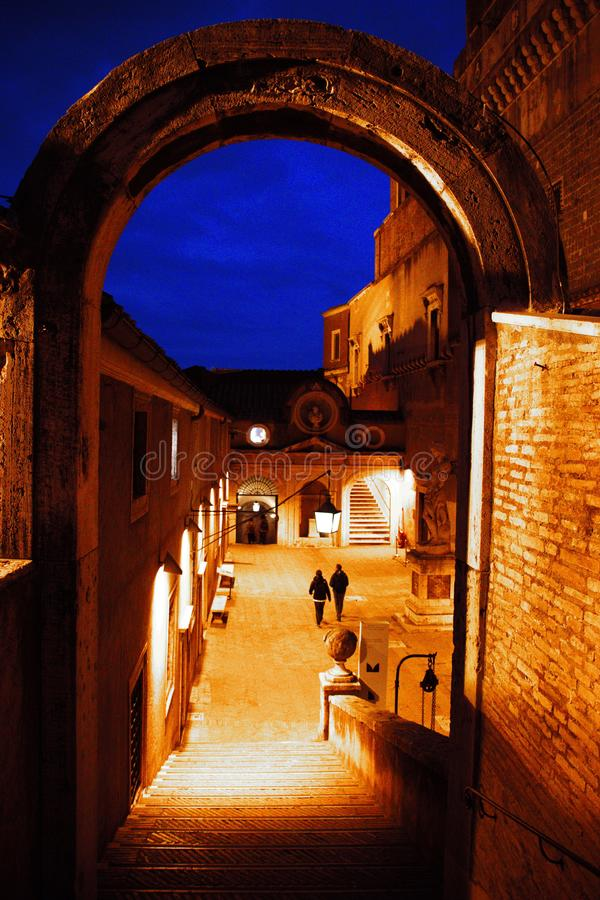 Castel Sant& x27;安吉洛,罗马市,梵蒂冈,意大利 免版税库存图片