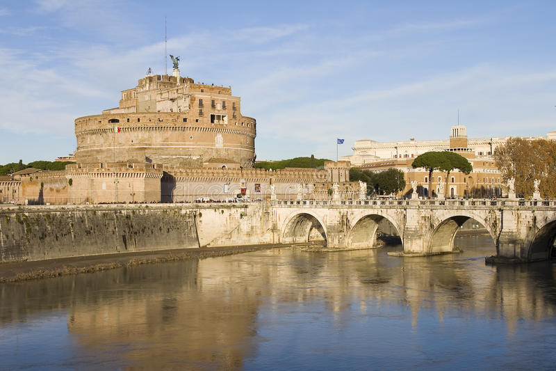 Castel Sant'angelo à Rome, Italie photos stock