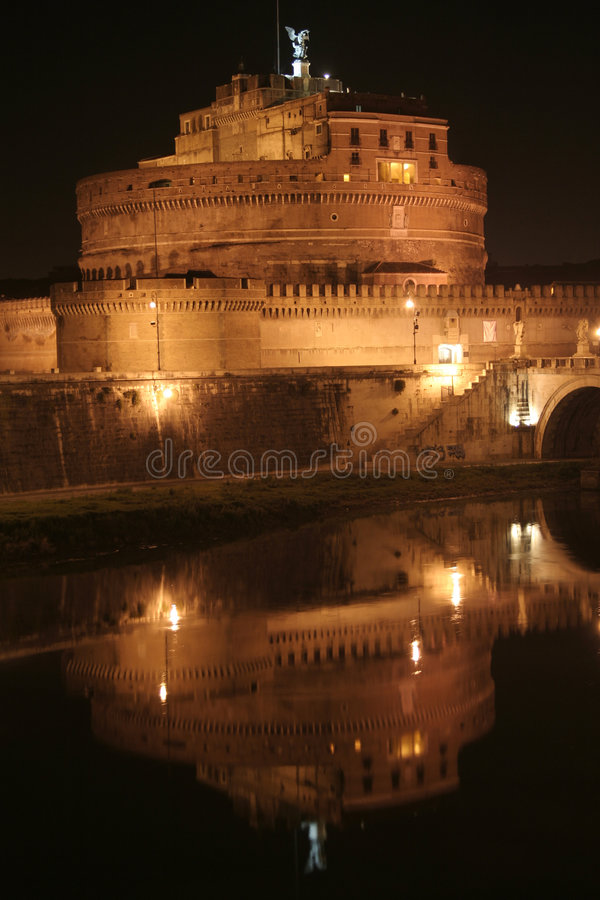 Castel Sant'Angelo (ángel del St. del castillo) fotos de archivo libres de regalías