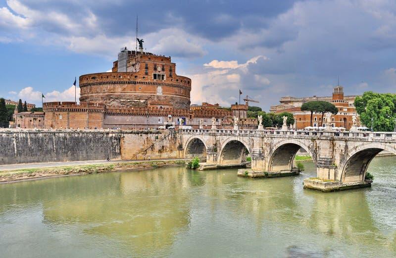 Castel Sant Angelo в Риме, Италии стоковые фотографии rf