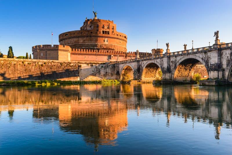 Castel Sant Angelo, Рим, Италия стоковые фотографии rf