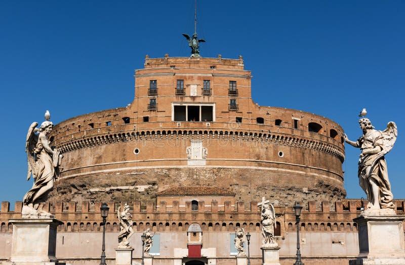 Castel Sant Angelo e Ponte Sant Angelo, Roma, Itália imagem de stock royalty free