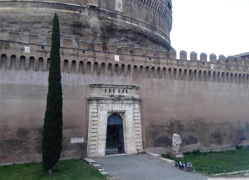 Castel Sant`Angelo, the east door,  Rome, Italy royalty free stock photos