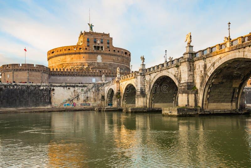 Castel Sant'Angelo en Roma fotografía de archivo libre de regalías