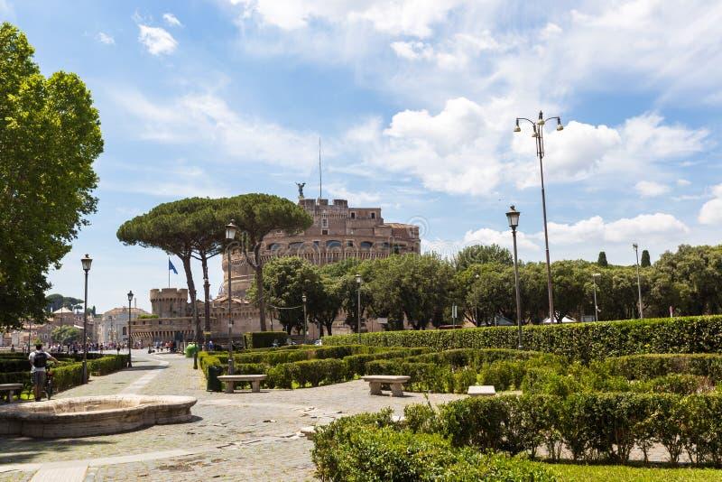 Castel Sant Angelo en Roma foto de archivo libre de regalías