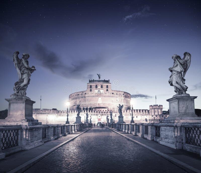 Castel Sant'angelo en Roma, Italia fotografía de archivo libre de regalías