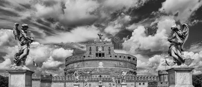 Castel Sant ` Angelo i Rome fotografering för bildbyråer