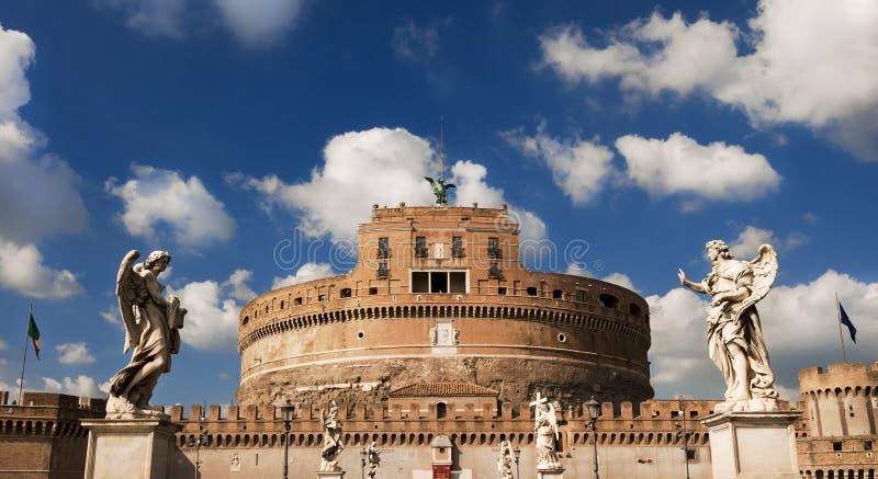 Castel Sant ` Angelo i Rome arkivbilder