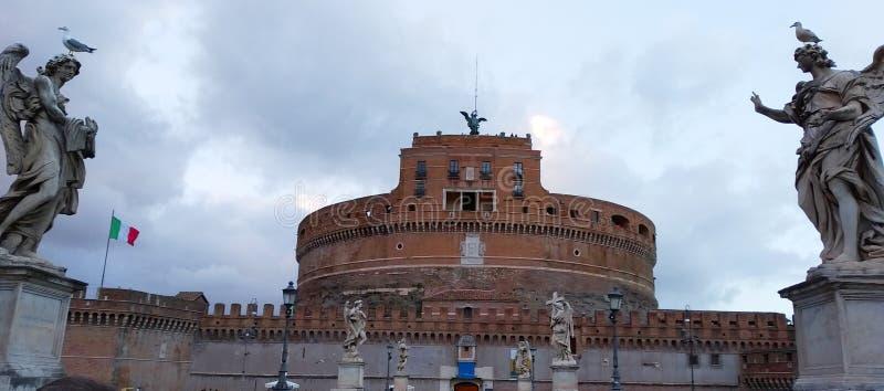 Castel Sant'angelo i Rome, Italien royaltyfria foton