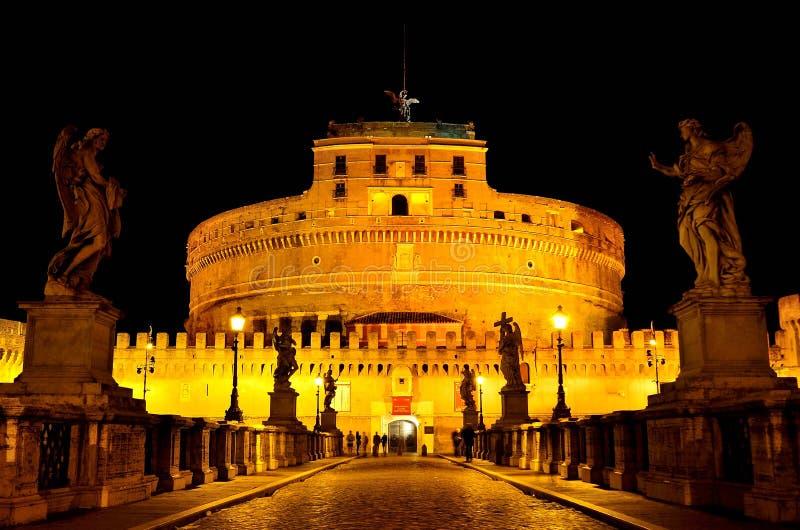 Castel Sant ' Angelo At Night royalty-vrije stock afbeeldingen